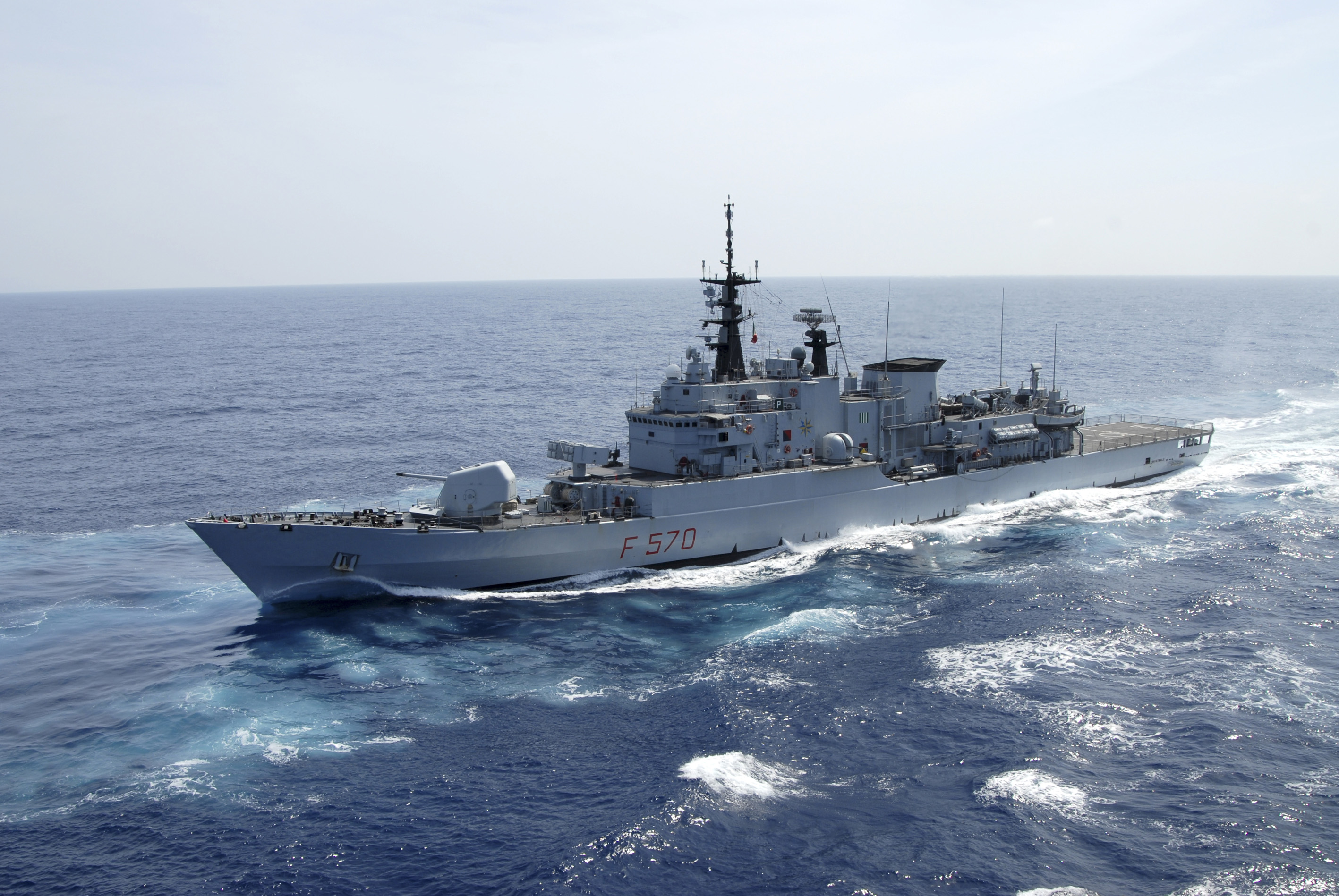 Maestrale-class frigate (photo grabbed from Marina Militare [Italian