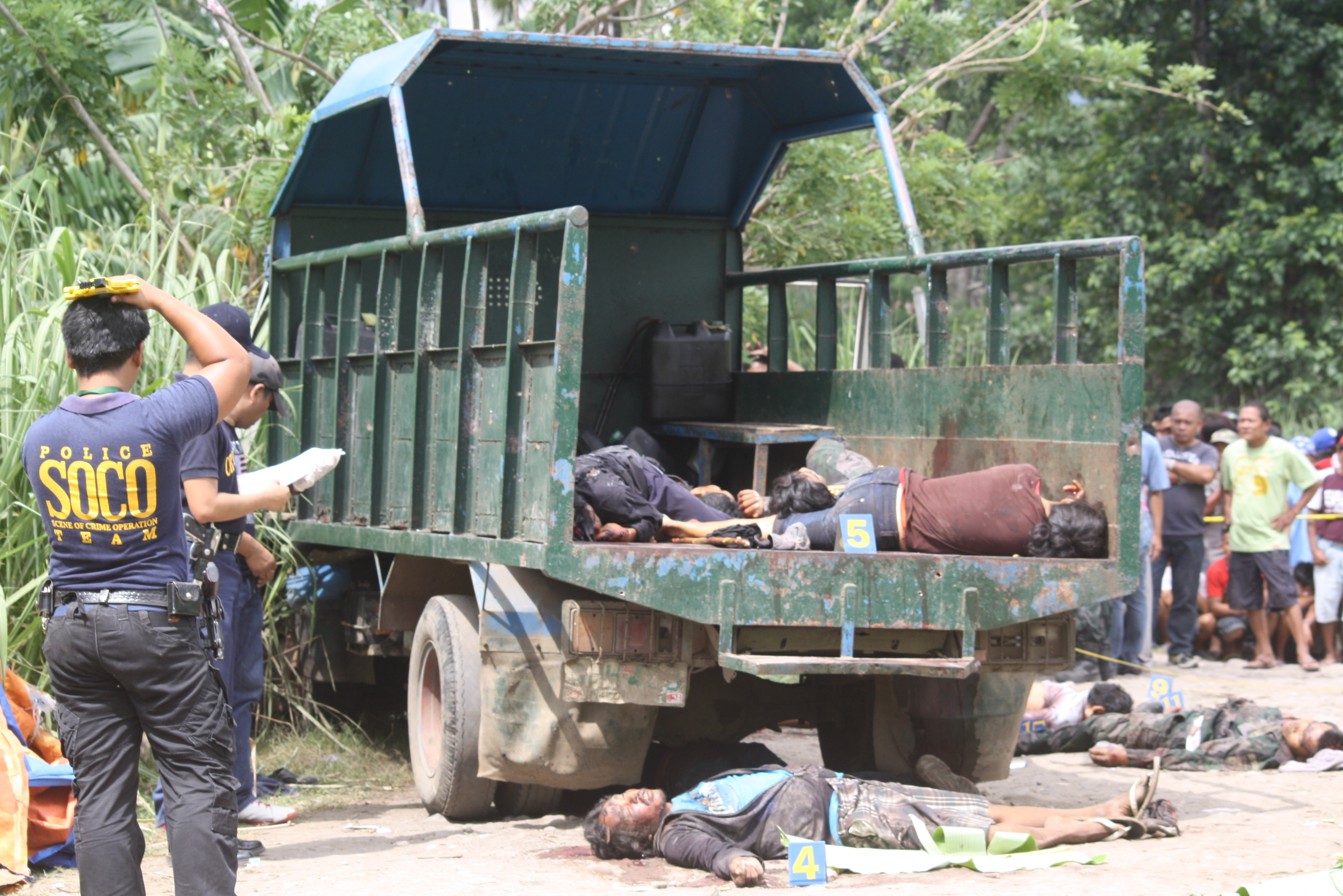 Photos From Ambush Site In La Castellana  Negros