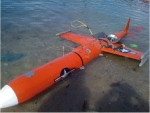 The US Navy 'target drone' found off Masbate (photo from Masbate PNP)