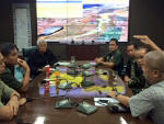Defense Sec. Voltaire Gazmin, AFP chief Greg Catapang & others discuss the standoff in Golan Heights